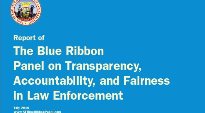 Blue Ribbon Report on San Francisco Policing
